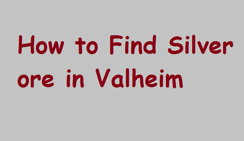 How to Find Silver ore in Valheim