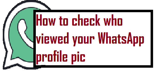 How to check who viewed your WhatsApp profile pic