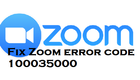 fix Zoom error code 100035000